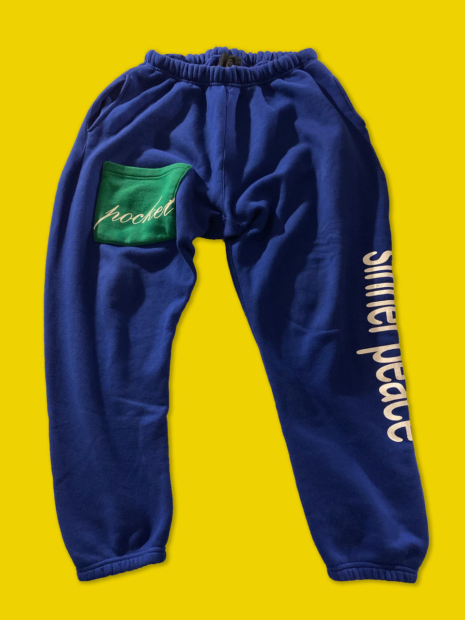 "The ""Sinner Peace Pocket"" Blue Sweatpants"