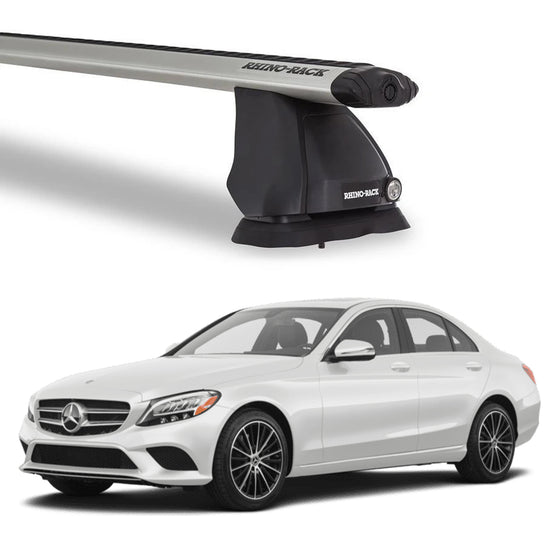 Rhino Rack 2015-2019 Mercedes Benz C Class sedan Vortex 2500 Roof Rack