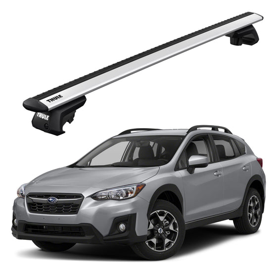 Thule 2015+ Subaru Outback 5dr Wagon w/Cross bars with raised rails