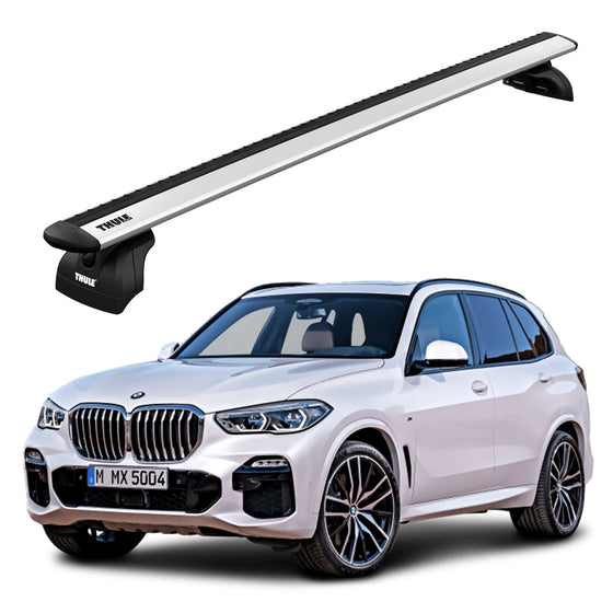 Thule 2019+ BMW X5 EVO Wingbar Roof Rack w/Flush Rails