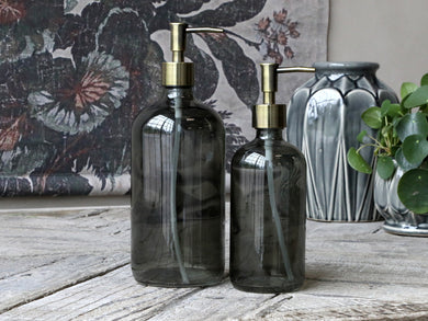 Coal Glass Bottle Dispenser