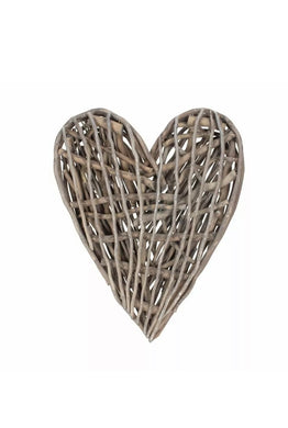 Rustic Willow Heart Wall Decor
