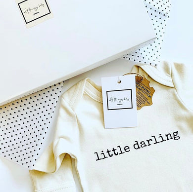 Little Darling Organic Bodysuit 0-3 Months