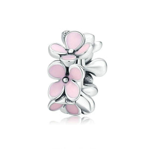 "Divider ""Pink flowers"" - Silver 925"