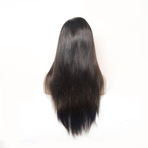 Straight Full Lace Wigs Natural Black Color Virgin Hair - Lokshair
