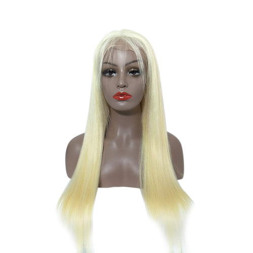 Loks Real Looking 613 Blonde Straight Lace Frontal Wig Human Hair - Lokshair