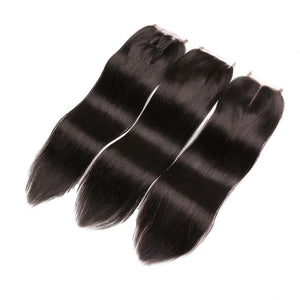 4*4 Transparent Straight Virgin Hair cuticle aligned Lace Closure-Loks - Lokshair