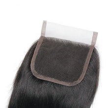 Load image into Gallery viewer, 4*4 Transparent Straight Virgin Hair cuticle aligned Lace Closure-Loks - Lokshair