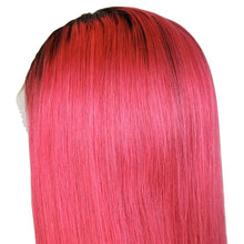 Load image into Gallery viewer, Loks Gorgeous Color Pink With Nature Black Ombre Lace Front Wig - Lokshair
