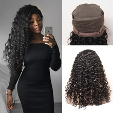 Load image into Gallery viewer, Deep Wave Full Lace Wigs Natural Black Color Virgin Hair - Lokshair