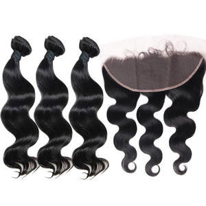 best Body Wave human hair weave 3 Bundles & Frontal-Loks - Lokshair