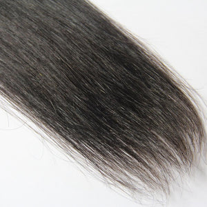 Brazilian cheap straight human hair 4 bundles with closure vendors-Loks - Lokshair