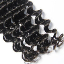 Charger l'image dans la galerie, Loks Brazilian Deep Wave Cuticle Aligned Hair 4 Bundles With Closure - Lokshair