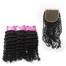 Load image into Gallery viewer, Loks Brazilian Curly Hair 3 Bundles With Closure - Lokshair