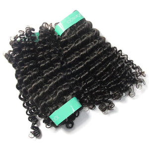 cuticle aligned curly hair from indian 4 Bundles with Frontal-Loks - Lokshair