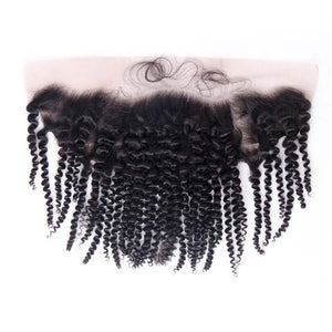 Loks curly hair from peruvian 4 Bundles with Frontal - Lokshair