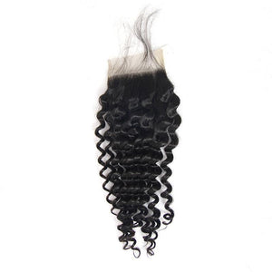 Loks Indian Deep Wave 100% Human Hair Weave 3 Bundles With Closure - Lokshair