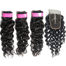 Load image into Gallery viewer, Loks Italian Curly  3 Bundles With 4*4 Lace Closure - Lokshair