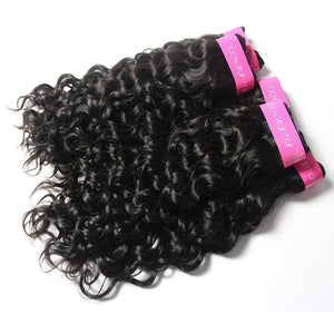 Loks Italian Curly 4 Bundles With Lace Closure - Lokshair