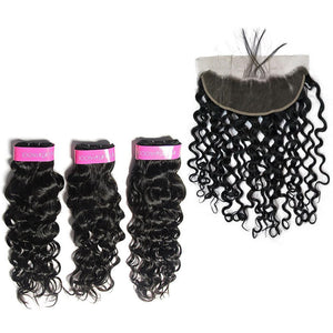 Loks Italian Curly Virgin Hair 3 Bundles With Frontal - Lokshair
