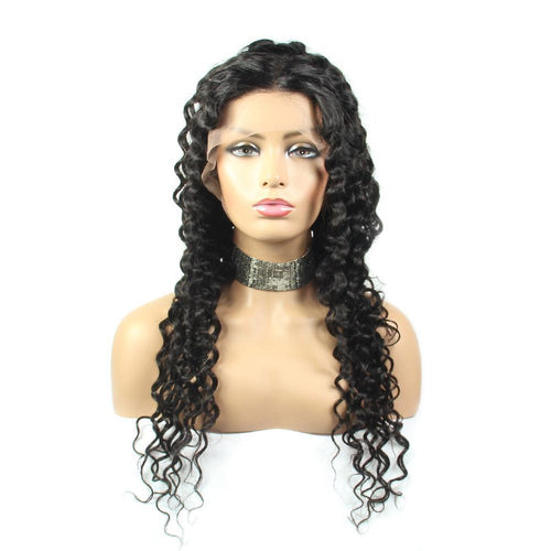 Loks Italian Curly Lace Front Wig For Black Ladies - Lokshair