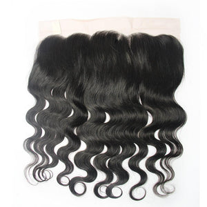 lace frontal closure human hair body wave 13x6 natural hair-Loks - Lokshair