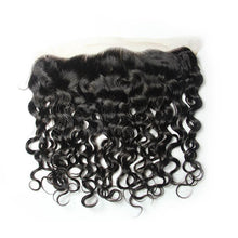 Load image into Gallery viewer, lace frontal closure virgin human hair italian curly 13x6 natural-Loks - Lokshair