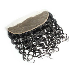lace frontal closure virgin human hair italian curly 13x6 natural-Loks - Lokshair