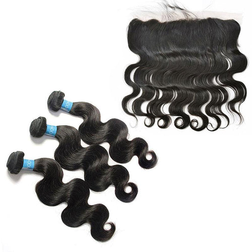 Loks Malaysian Virgin Hair Body Wave 3 Bundles With Frontal - Lokshair