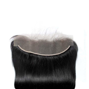 Loks Malaysian virgin Straight hair 3 Bundles with Frontal - Lokshair