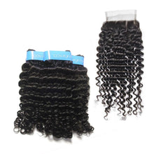 Load image into Gallery viewer, Loks Malaysian Curly Hair 3 Bundles With Closure - Lokshair