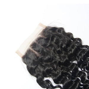 Loks Peruvian Curly Virgin Hair Weaves 3 Bundles With Lace Closure - Lokshair