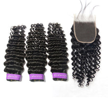 Load image into Gallery viewer, Loks Peruvian Deep wave weave 3 bundles with closure - Lokshair