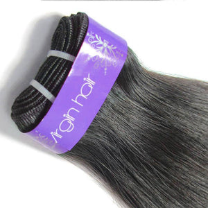 Loks peruvian straight human hair weaves 3 Bundles - Lokshair