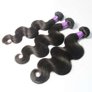 Loks Peruvian Cuticle Aligned Virgin Human Hair 3 Bundles - Lokshair