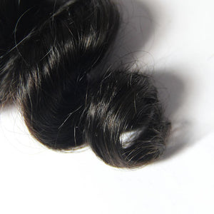 Loks Brazilian Cuticle Aligned Loose Wave Hair 4 Bundles With Closure - Lokshair