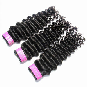Loks Brazilian Deep Wave 3 Bundles Unprocessed Virgin Hair Vendor - Lokshair