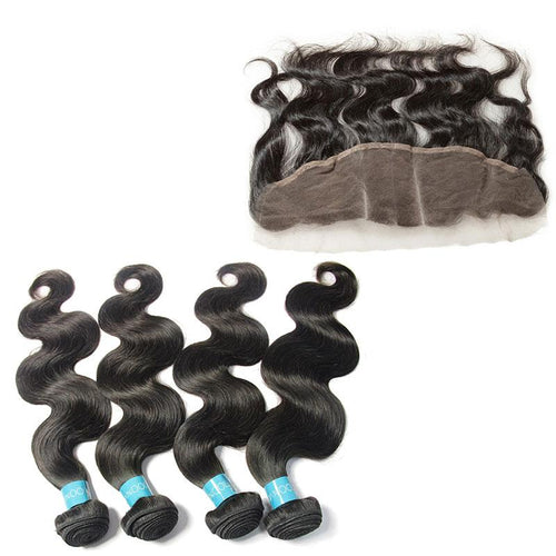 Loks Body Wave Malaysian 4 Bundles With Frontal - Lokshair