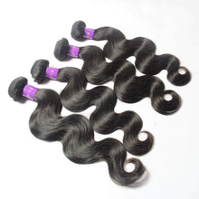 Load image into Gallery viewer, peruvian Body wave hair unprocessed 4 Bundles with Frontal-Loks - Lokshair