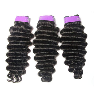 Loks peruvian deep wave 3 bundles virgin hair - Lokshair