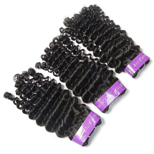 Loks virgin Peruvian Curly 3 Bundles - Lokshair