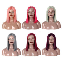 Load image into Gallery viewer, Loks 99j grey pink red lace front bob wigs - Lokshair