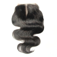 "Load image into Gallery viewer, Straight Human hair Swiss lace 4*4"" Lace top closure Body wave-Loks - Lokshair"