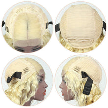 Load image into Gallery viewer, virgin cuticle aligned hair loose wave human hair wig 613 blonde-Loks - Lokshair