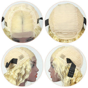 virgin cuticle aligned hair loose wave human hair wig 613 blonde-Loks - Lokshair