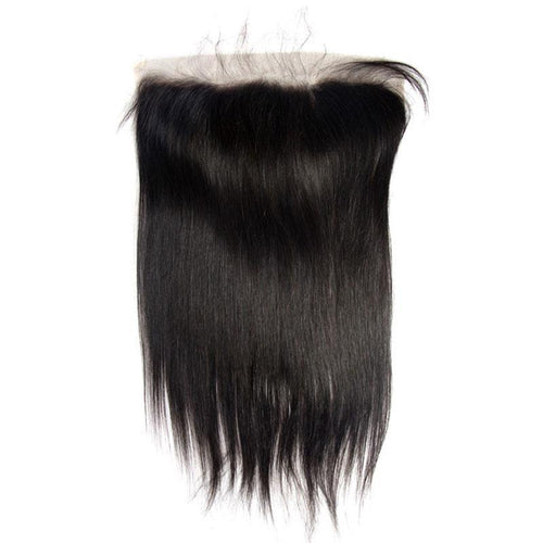 virgin human hair lace frontal closure straight hair 13x4 natural-Loks - Lokshair