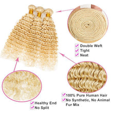 Load image into Gallery viewer, wholesale 613 Blonde color virgin Hair bundles Human Hair vendors-Loks - Lokshair