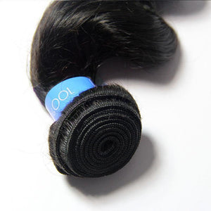 Loks Malaysian Loose Wave Hair 3 Bundles With Closure - Lokshair