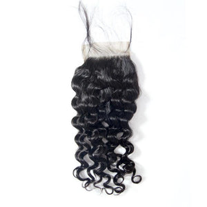 wholesale raw 4x4 lace closure italian curly virgin human hair-Loks - Lokshair