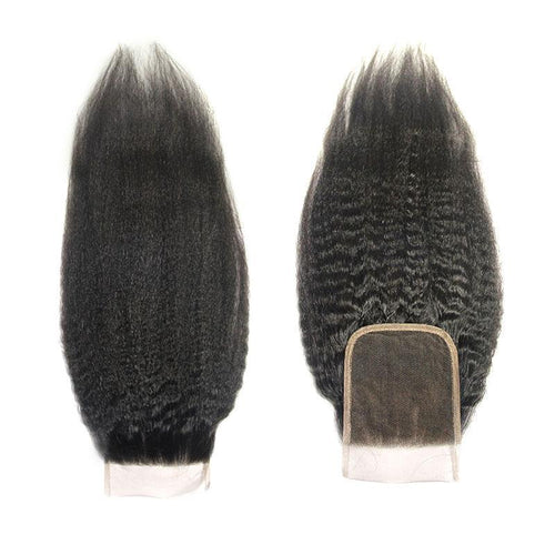 wholesale raw human hair 4x4 Lace Closure kinky straight vendor-Loks - Lokshair